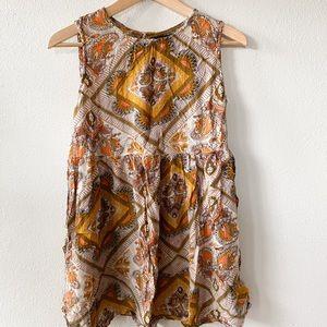 Paisley and Floral Mini Sack Dress